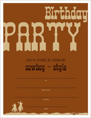 Best Western Themed Birthday For Year Old Images On Pinterest - Cowboy birthday invitation template