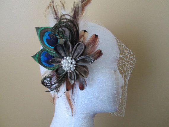 CAMO MOSSY OAK Wedding Flower Fascinator by NakedOrchidGarters