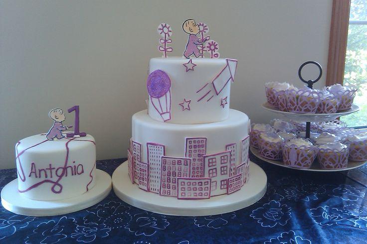 Harold and the purple crayon birthday   cake