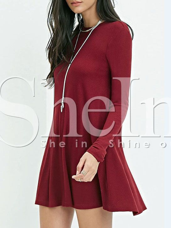 Shop Burgundy Long Sleeve Casual Dress online. SheIn offers Burgundy Long Sleeve Casual Dress & more to fit your fashionable needs.
