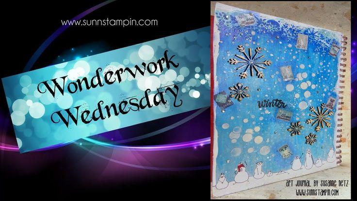 Winter - Art Journal Page
