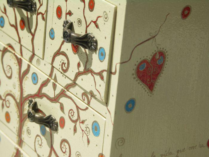 ARBOL DE LA VIDA - painted wood box