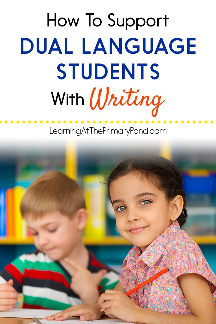 This blog post has great ideas for helping dual language learners write in the Kindergarten, first, or second grade classroom!