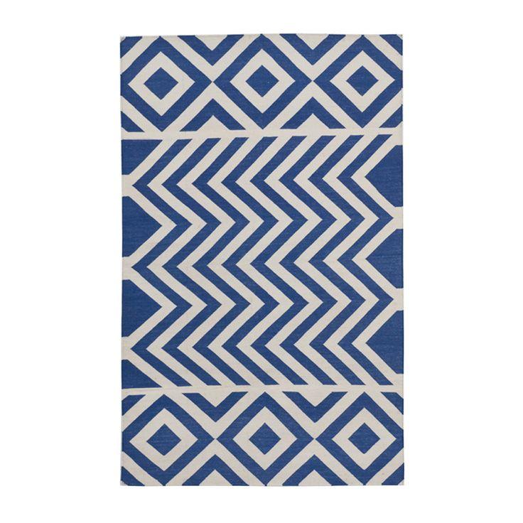 Blue Lupe Cotton Carpet | MADELINE WEINRIB