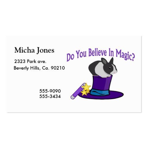 209 best magician business cards images on pinterest