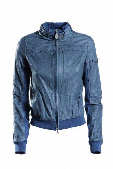 Arrow Man Blue Leather Jacket
