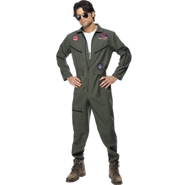 Top Gun Pilot Costume (165 BRL) ❤ liked on Polyvore featuring costumes, 80s halloween costumes, top gun halloween costume, 80s costumes, 1980s costumes and 1980s halloween costumes