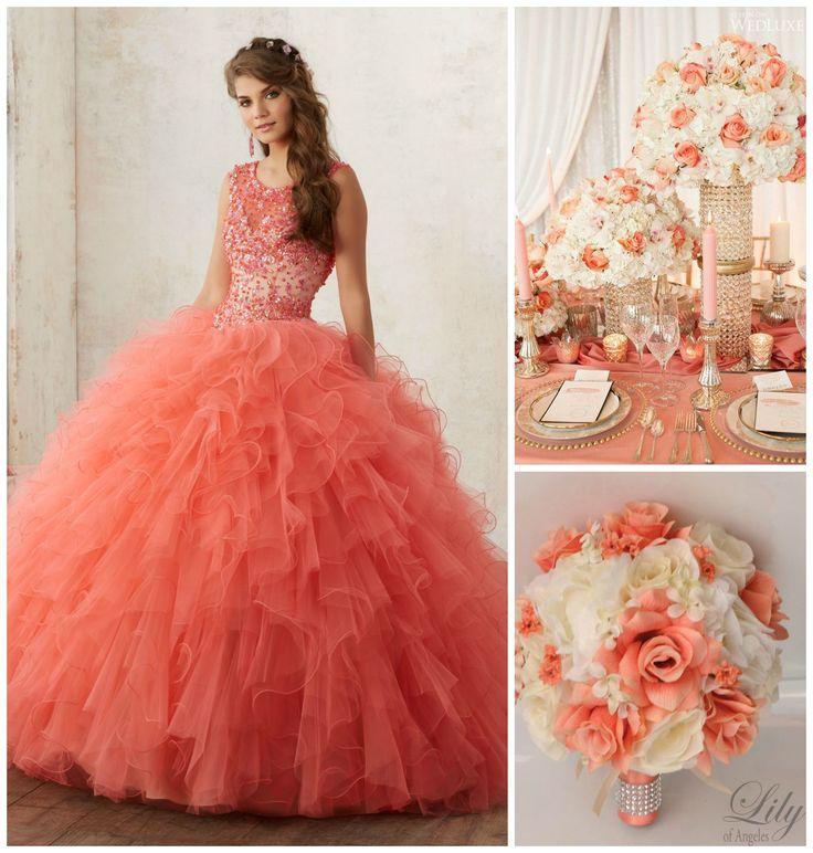 Quinceanera Dresses Coral