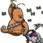 OMG my two favorite things Star Wars and Pooh Bear: Pooh Prints, Awesome, 10 Prints, Pooh Bear, Adorable, Baby, Stars Wars Inspiration, Buy Stars, Kid