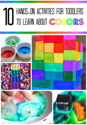Teaching toddlers colors: hands-on activities and science play