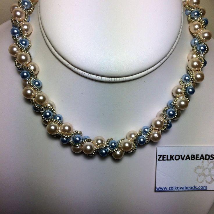 Zelkova Beads something blue Crochet Glass pearl Seed beads $60