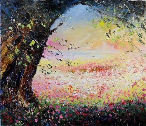 Good shadow. Artist Vadim Stolyarov, 2013. Impressionism. Romance genre. Oil on canvas. Umbră bună