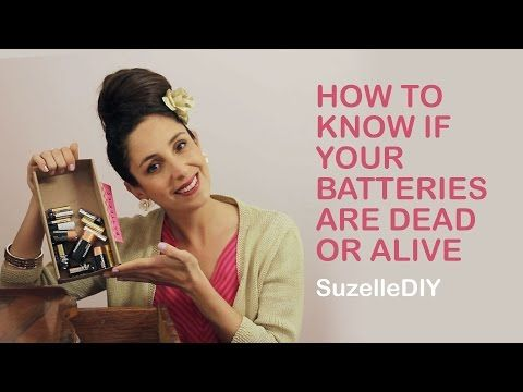 SuzelleDIY - How to Know if your Batteries are Dead or Alive - YouTube