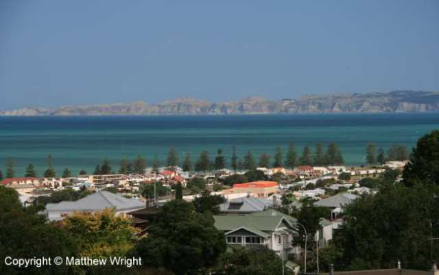 Napier, New Zealand with Clifton and Cape Kidnappers across the bay. Photo I took in late 2013.