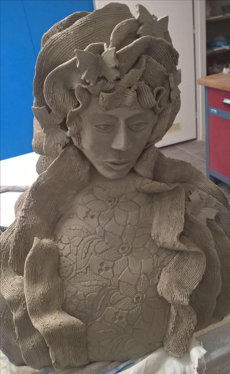 Ceramic Freya keramická bohyně přírody Freya