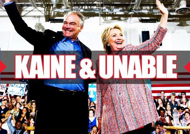"KAINE AND UNABLE: Moments ago the worst kept secret in Washington was confirmed when Hillary Clinton announced on Twitter she has picked Virginia senator Tim Kaine as her running mate in an attempt to bolster her support among blue-collar workers and maximize votes from US Latinos. Tim Kaine, a Jesuit, says he is a ""boring guy"". This ought to be good (rolling my eyes) #CrookedHillary http://www.nowtheendbegins.com/crooked-hillary-picks-boring-tim-kaine-unable-as-vice-president/"