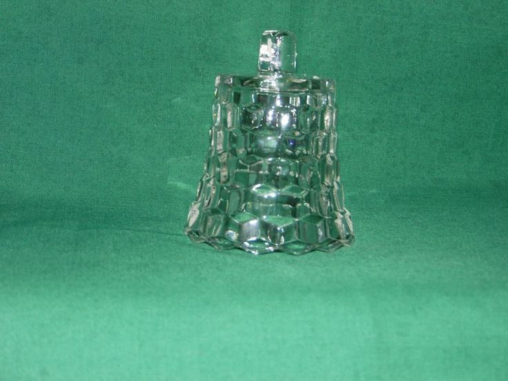 VINTAGE CLEAR HOMCO GLASS CUBED LADY LOVE SCONCE VOTIVE CUP CANDLE HOLDER  #HomeInteriors