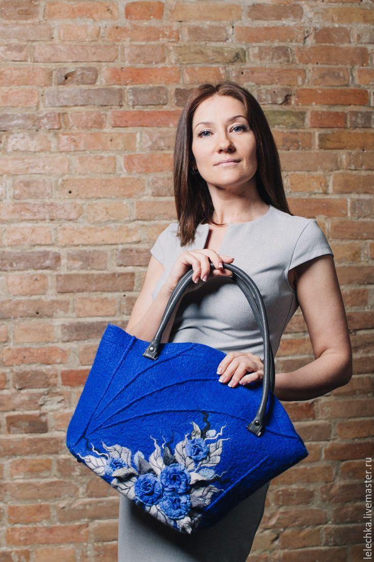 """Handmade felted bag / Купить Сумка """"Лазурный берег"""" валяная - сумка, купить сумку, сумка ручной работы"""