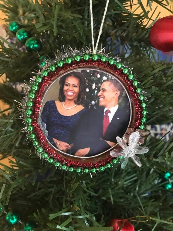 Barack and Michelle Obama Christmas Ornament Kitschy Holiday | Etsy - Barack And Michelle Obama Christmas Ornament Kitschy Holiday Etsy