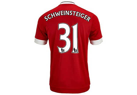 adidas Bastian Schweinsteiger Manchester United Authentic Home Jersey 2015-16