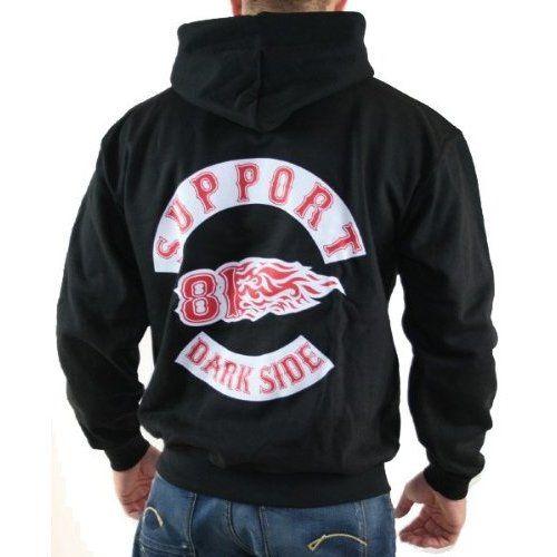 5df256b89d4 Support 81 Sweatshirt Hells Angels Hooded 826 Schwarz, S 3XL | 81 ...