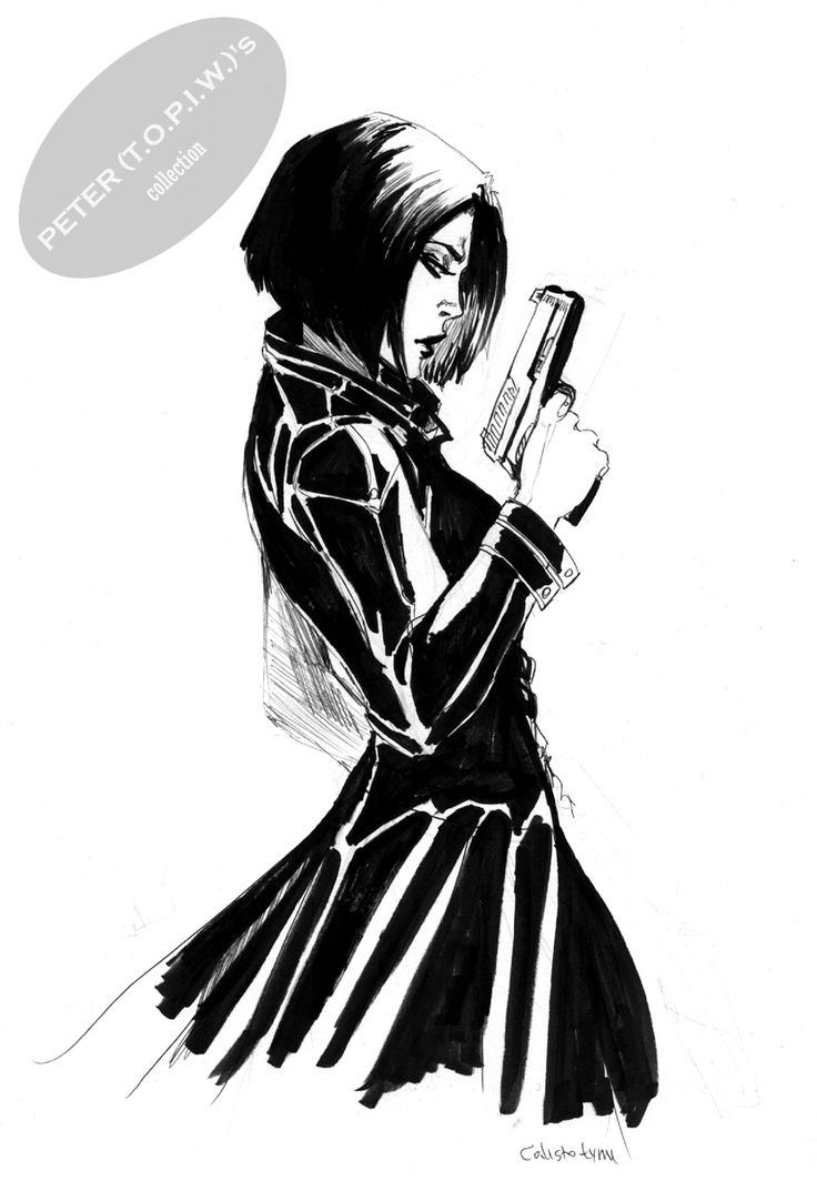 Underworld's Selene sketch #2 by Linda Luksic Šejić Comic Art