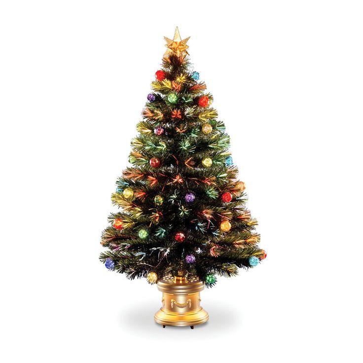 Optic Fireworks Green Fiber Artificial Christmas Tree