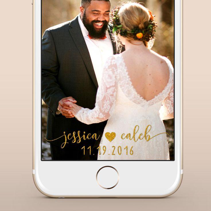 Custom Wedding Snapchat Geofilter / Gold Snapchat Wedding Geofilter / Gold Custom Snapchat Filter, Personalized for Weddings & Parties by littlemagicprints on Etsy https://www.etsy.com/listing/461910360/custom-wedding-snapchat-geofilter-gold