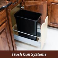 Wood Trash Can Pullout Quick Install Hidden Waste Container [CAN-MDB] - $149.77 : QuikDrawers - Your DIY Cabinet Door and Drawer Resource, Custom cabinet doors, replacement cabinet doors, finished or painted cabinet doors, oak cabinet doors and cabinet hardware since 2006