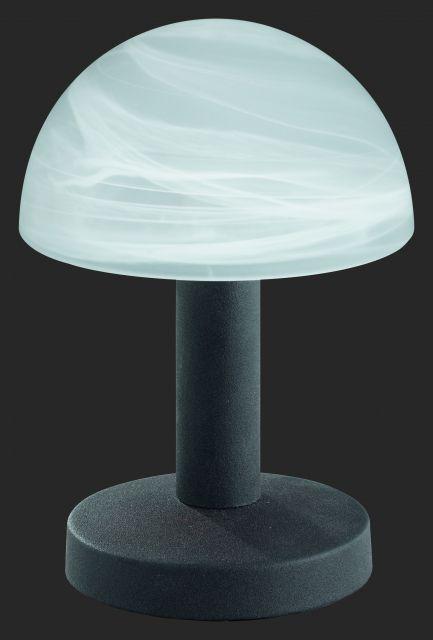 5990 - TRIO - dotyková lampa - hrdza - biely alabaster