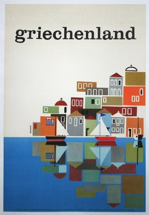 Greece #travel #poster by Freddie Carabott