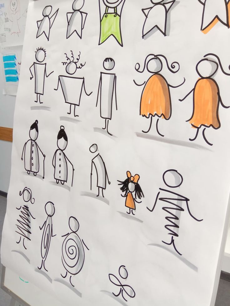 Leute zeichnen #visualvocabulary #drawing #people #simpledrawing