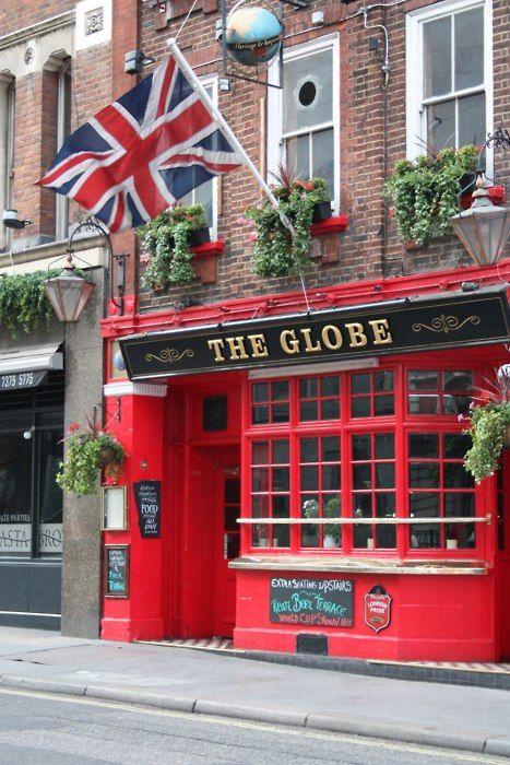 """The Globe"" English Pub. 43-47 Marylebone Road. London, ENGLAND."