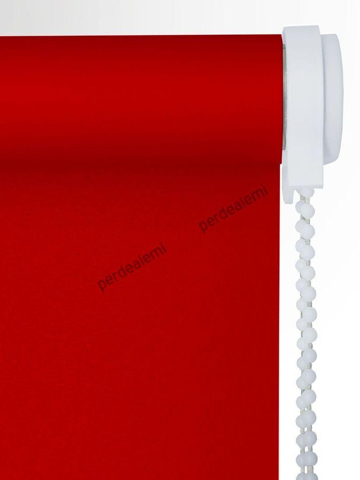 Stor Perde Kırmızı Polyester Serisi 2538 Stor Perde | Perde | Online | Ucuz | Hesaplı | Brillant