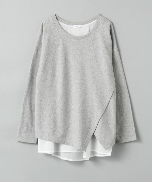 JEANASIS(ジーナシス)のカサネプルオーバーLS/705344(Tシャツ/カットソー)|グレー