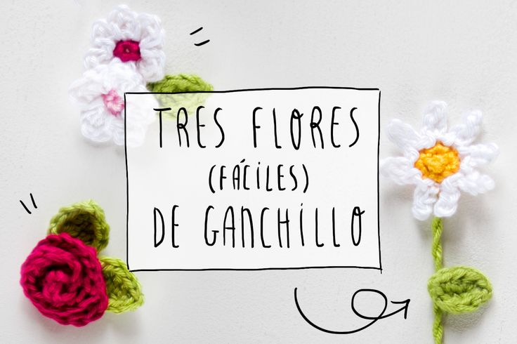 DIY: tres flores faciles de ganchillo. I am a Mess Blog