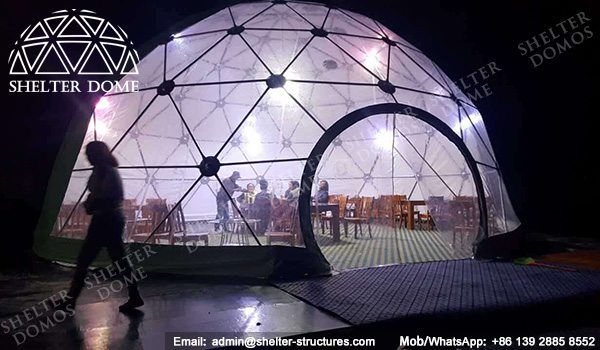 10m Eco living dome tents for sale - Geo dome tents for sale - Dome restaurant - Prefab dome homes for sale - Eco dome homs for sale - Shelter Dome (2)