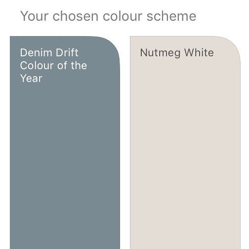 Image result for dulux nutmeg white and denim drift