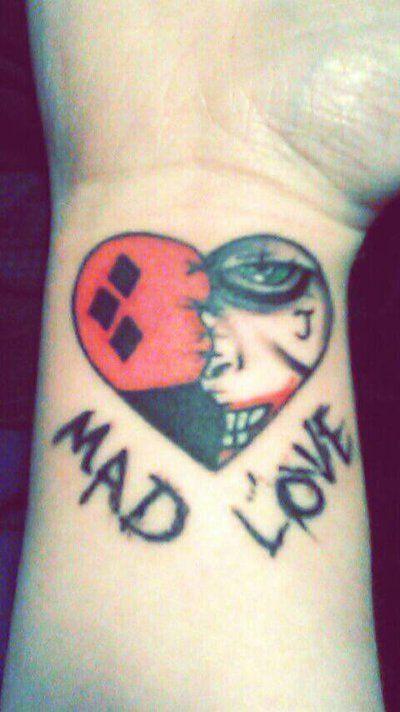 32f101a73 Joker and Harley Quinn Tattoo!! My seventh one!!! by  ThornRedRayne1.deviantart.com on @DeviantArt