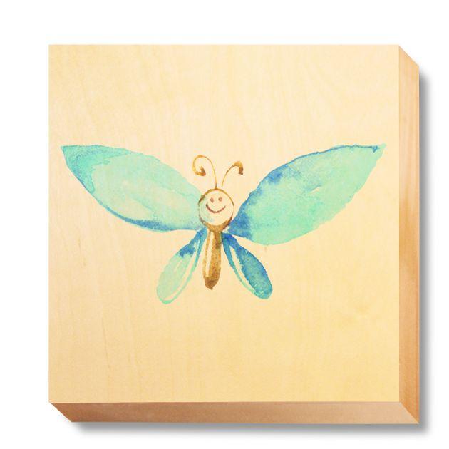 CHI 042 Children's Art - Watercolour Blue Butterfly