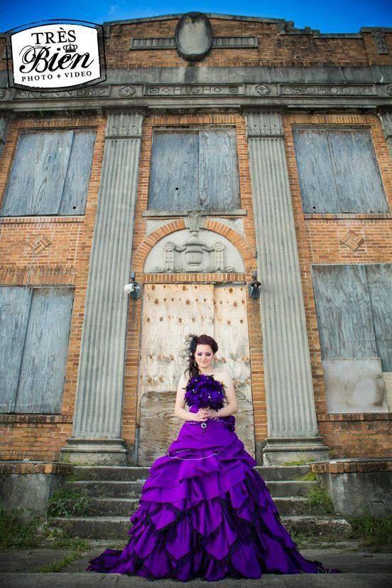Purple Wedding Dress Alternative by WeddingDressFantasy