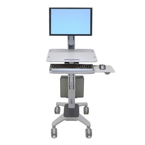 Mobile Computer Cart | WorkFit-C Standing Workstation | Ergotron