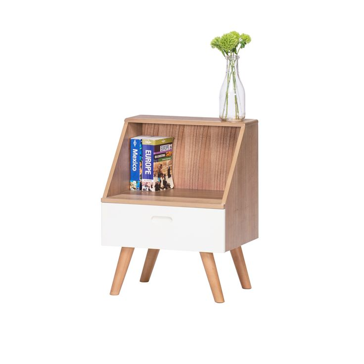 Frederick Danish Style Side Table - Natural / White
