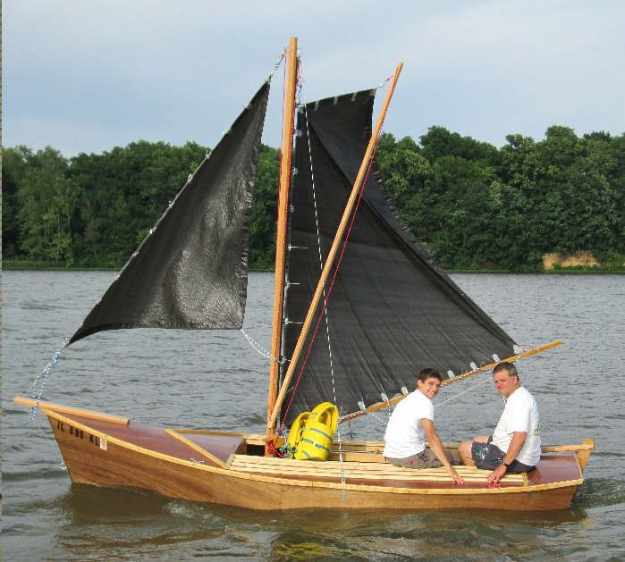 Easy To Build Sailing Sharpie Dory Wood Boat Plans