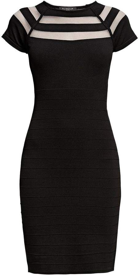 Hearsay London Catherine Bodycon Gown with Lower-Out Element