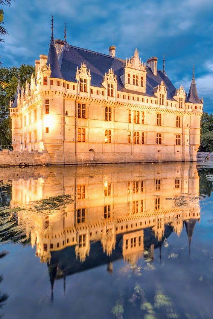 Château D´Azay-Le-Rideau un bijou de la Renaissance avec toit en ardoise naturelle | #ardoise #patrimoine #design #architecture #CUPAPIZARRAS