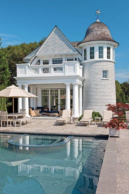 Grand pool house.