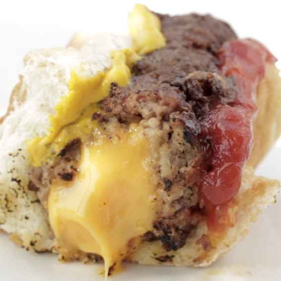 Cheese-Stuffed Burger Dogs