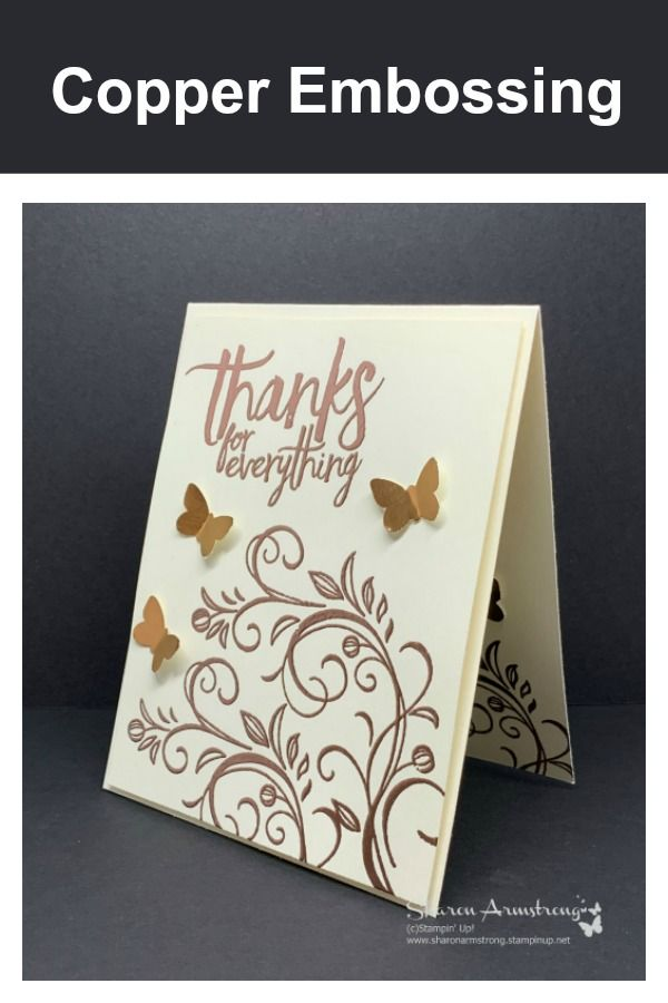 Make An Easy Elegant Copper Embossed Greeting Card Embossed