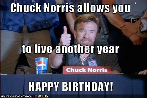 Thank YOU Chuck Norris.